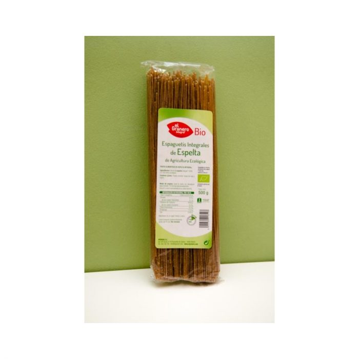 Espaguetis de espelta integral 500gr el granero