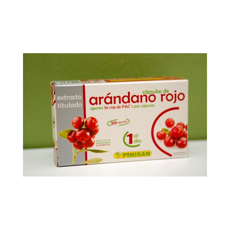 Arándano rojo 30 cápsulas 30 mg Pinisan