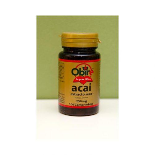 Acai extracto seco 100 comprimidos de 250 mg Obire