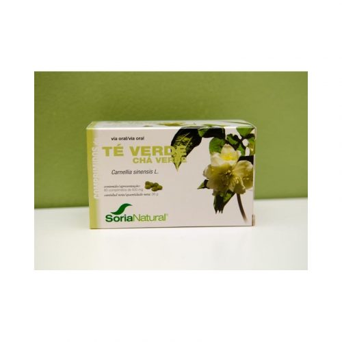 Té verde 60 comprimidos de 600 mg Soria Natural