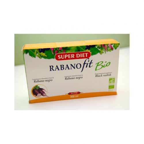 Rábano fit bio 300 ml 20 x 15 ml Super Diet