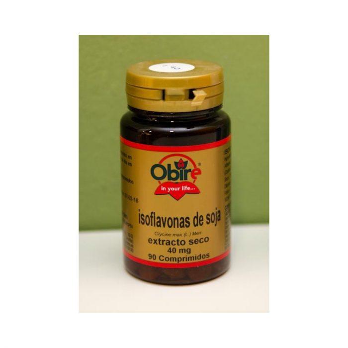 Isoflavonas de soja 90 comprimidos 40 mg extracto seco Obire