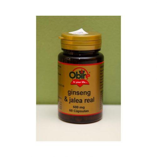 Ginseng y jalea real 60 cápsulas 600 mg Obire