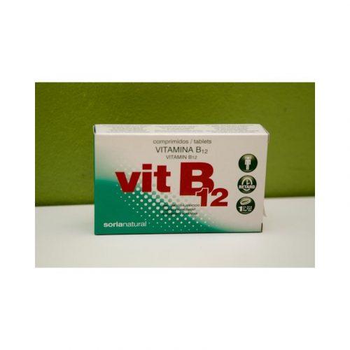 Vitamina B12 48 comprimidos 200 mg Soria Natural
