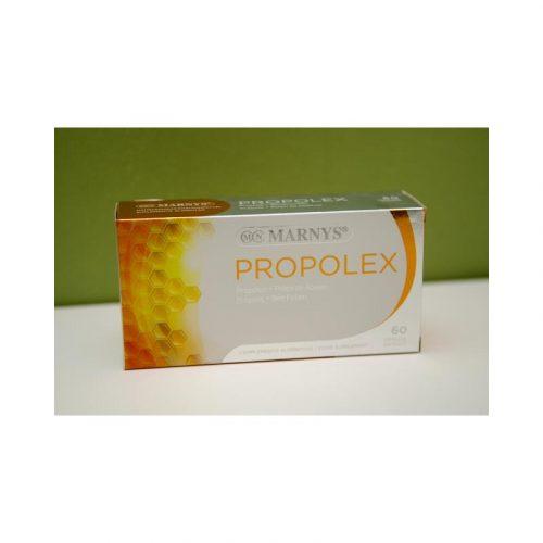 Propolex propóleo más pólen de abejas 60 cápsulas 36 g Marnys
