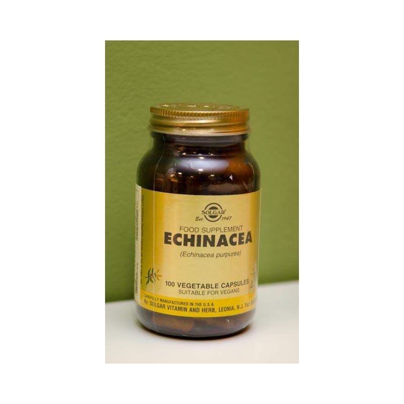 Echinacea 100 cápsulas vegetales apto para veganos Solgar