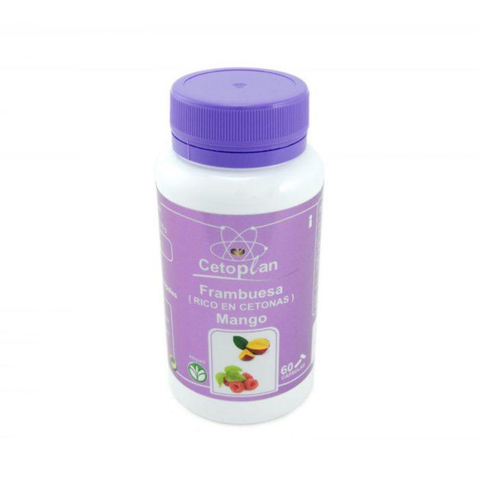 Cetoplan Frambuesa (rico en cetonas) y mango 60 cápsulas de 596 mg Planes
