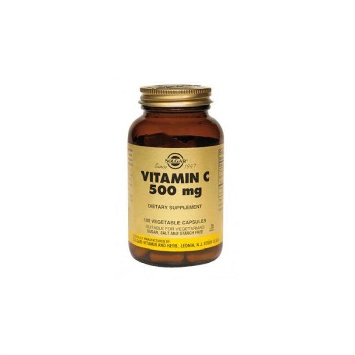 Vitamina C 500 mg. 100 cápsulas vegetales. Solgar