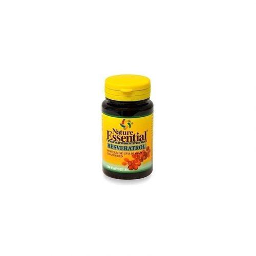 Resveratrol semilla de uva 50 cápsulas de 50 mg. Nature essential