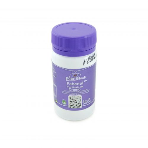 Planblock Fabenol , picolinato de cromo 30 cápsulas de 606.32 mg. Planes