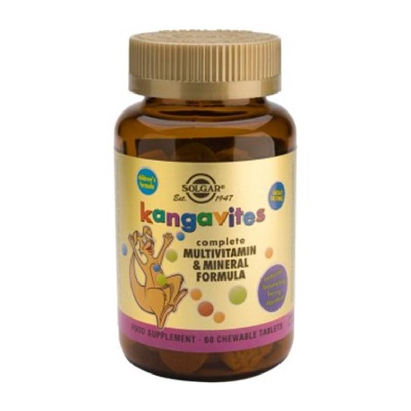 Kangavites fórmula multivitaminas y minerales 60 comprimidos. Solgar