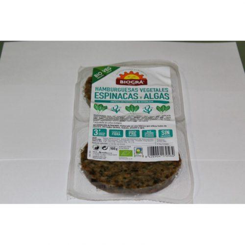 Hamburguesas de Espinacas y Algas 160 gr. Biográ