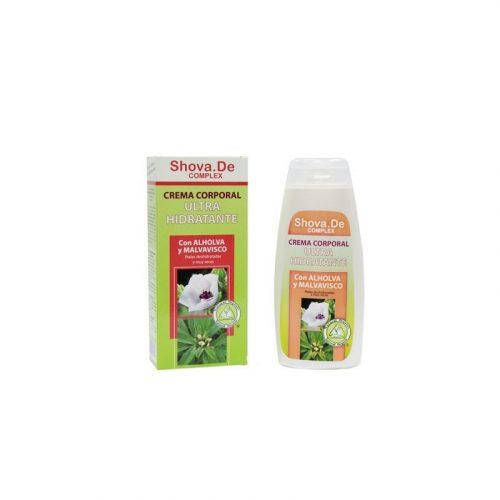 Crema corporal ultra hidratante para pieles deshidratadas y muy secas con alholva y malvavisco 250 ml. Shova.De