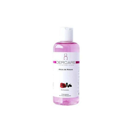 Agua de rosas con aceite de rosa mosqueta sin alcohol 250 ml. Dercare