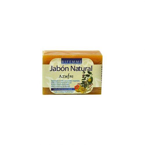 Jabón natural de azufre 100 gr. Bifemme