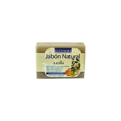 Jabón natural de arcilla 100 gr. Bifemme