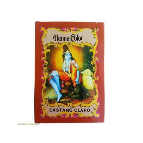 Henna color castaño claro 100 gr. Rashe Shyam