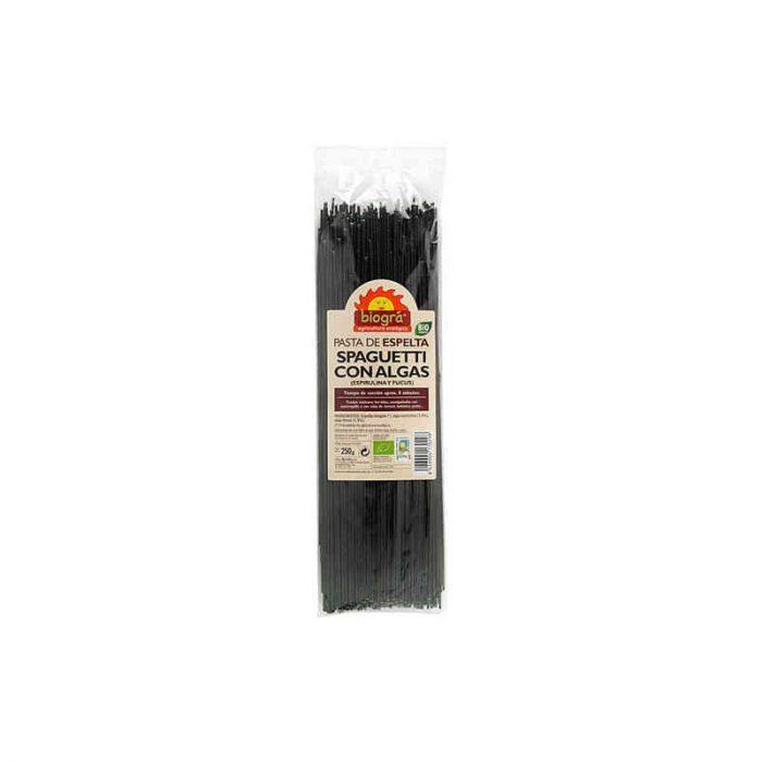 Espaguetis con algas (espirulina y fucus) 250 gr. Biográ