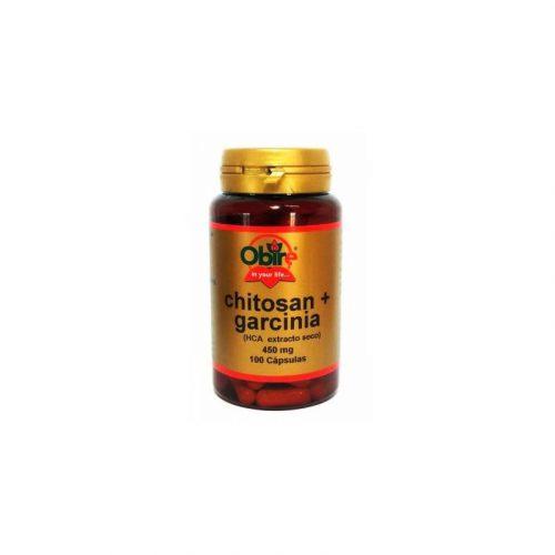 Chitosan + Garcinia (HCA extracto seco) 100 cápsulas 450 mg. Obire