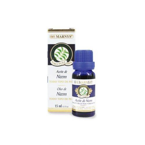 Aceite puro 100 % de neem 15 ml. Marnys