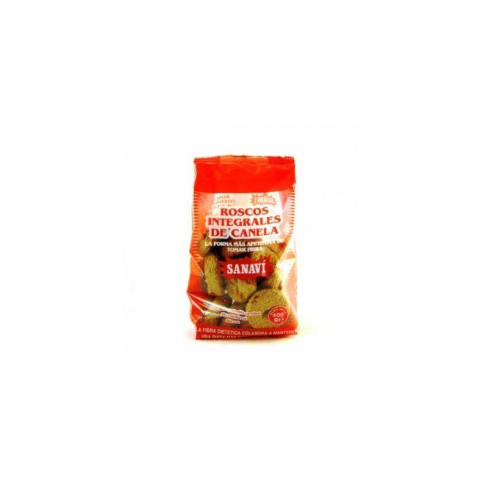 Roscos integrales de canela 400 gr. Sanaví