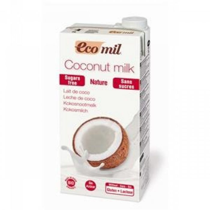 Bebida de coco, sin gluten, sin azúcares bio 1L. Ecomil