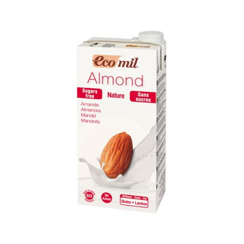 Bebida de almendras sin gluten, sin azúcares bio 1L. Ecomil