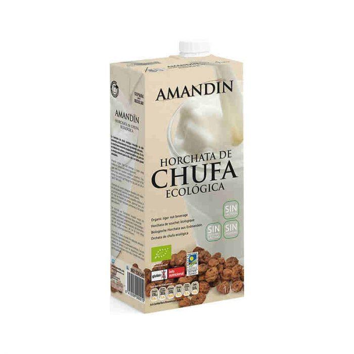 Horchata ecológica de chufa sin gluten, sin lactosa 1L. Amandin