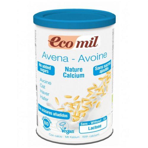 Bebida de avena en polvo instantáneo con calcio, sin azúcares añadidos 400 gr. Ecomil