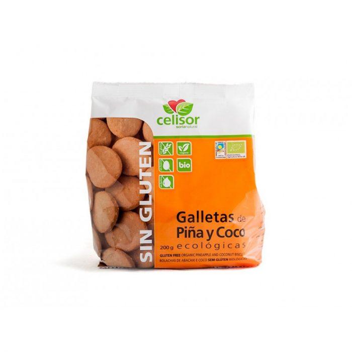 Galletas de piña y coco ecológicas 200 gr. Celisor Soria Natural