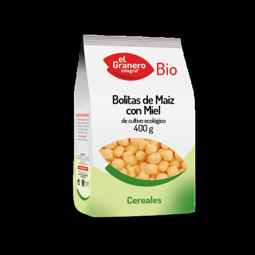 Bolitas de maíz con miel de cultivo ecológico 400 gr. El Granero Integral