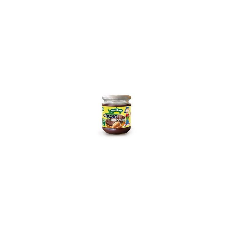 Crema de almendras con cacao bio 200 gr. Naturgreen