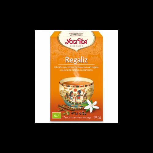 Regaliz infusión ayurvédica de especias 17 bolsitas 30.6 gr. Yogi Tea
