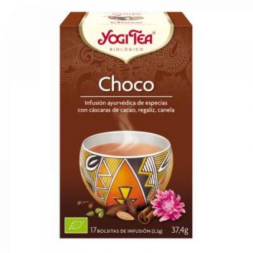 Choco infusión ayurvédica de especias 17 bolsitas 37.4 gr. Yogi Tea