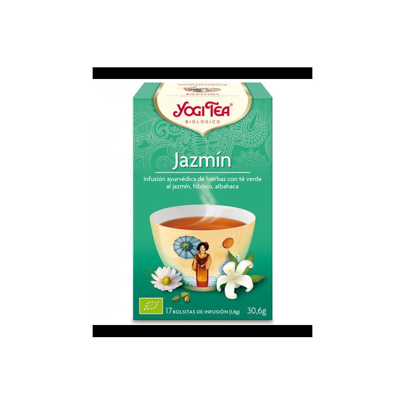 Jazmín infusión ayurvédica de hierbas 17 bolsitas 30.6 gr. Yogi Tea