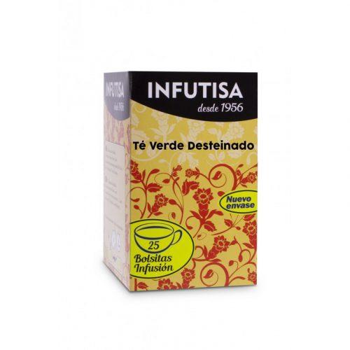 Infusión de Té Verde Desteinado 25 bolsitas 37.5 gr. Infutisa