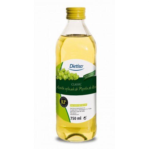 Aceite de pepitas de uva classic 750 ml. Dietisa