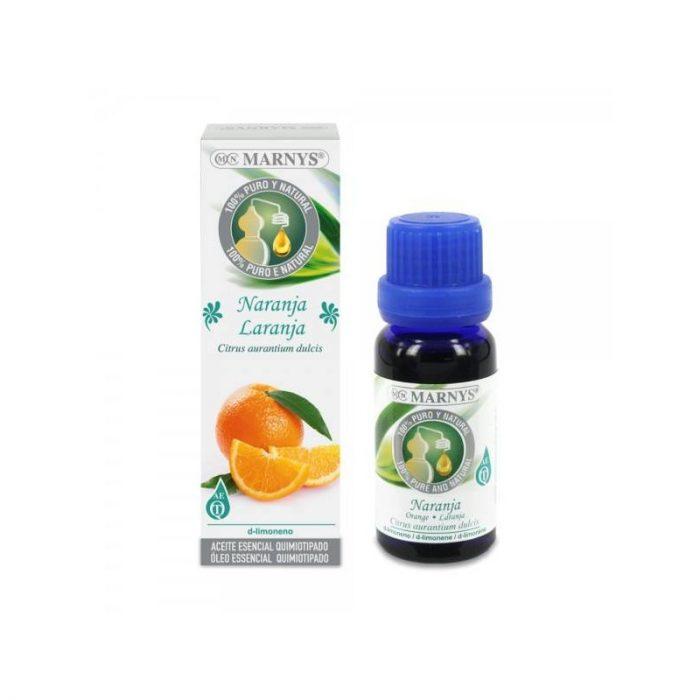 Aceite esencial de naranja alimentario 15 ml. Marnys