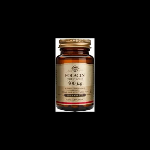 Ácido Fólico Folación 400 mg. 100 tabletas Solgar