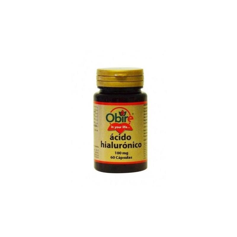 Ácido hialurónico 100 mg 60 cápsulas. Obire