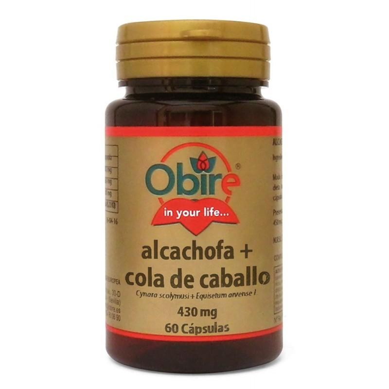 Alcachofa + cola de caballo 430 gr 60 cápsulas. Obire
