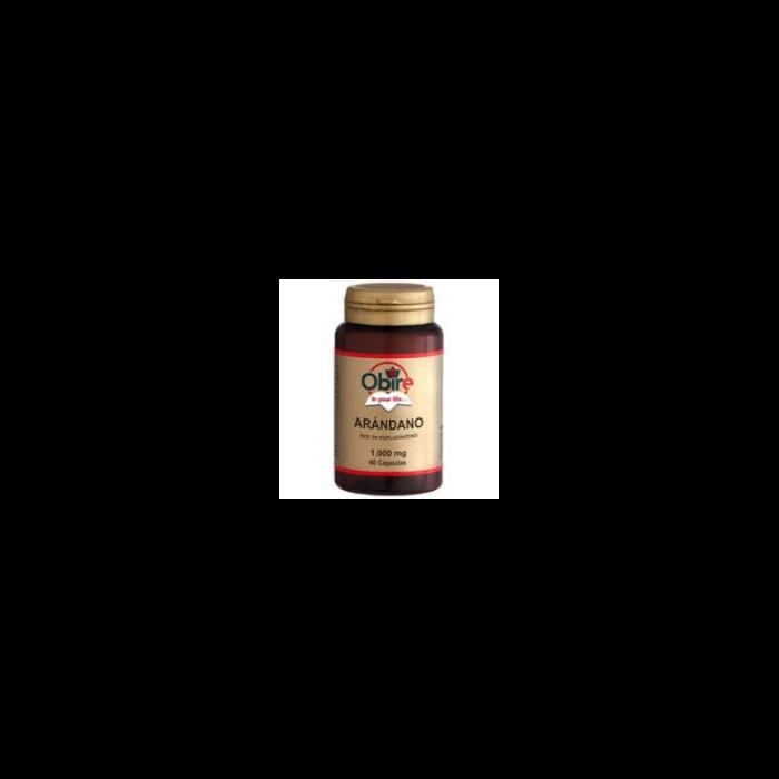 Arándano rojo extracto seco 60 cápsulas de 1000 mg. Obire