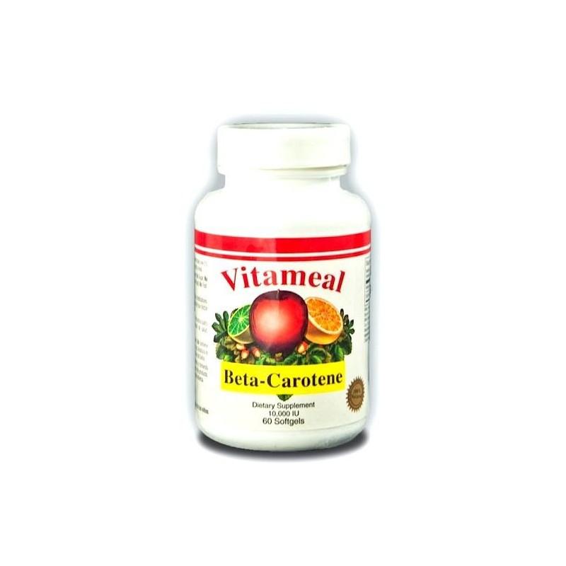 Betacaroteno 10.000 UI 60 cápsulas. Vitameal