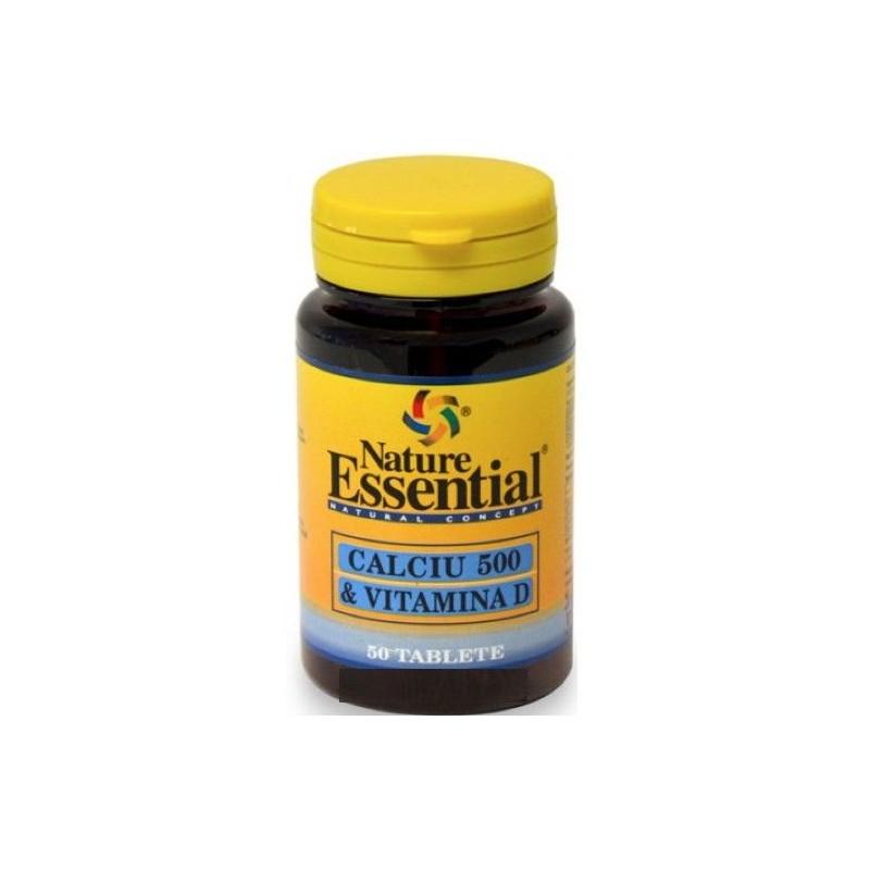 Calcio 500 + vitamina D 50 comprimidos. Nature Essential