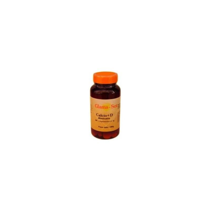 Calcio y vitamina D3 100 comprimidos masticables. Glama-Sot