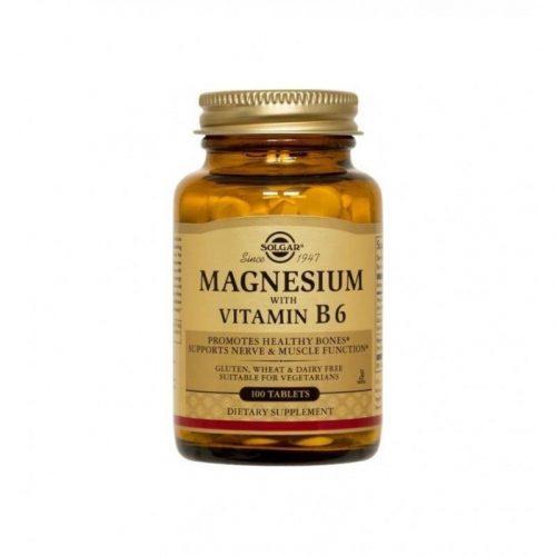 Magnesium con vitamina B6 100 comprimidos. Solgar