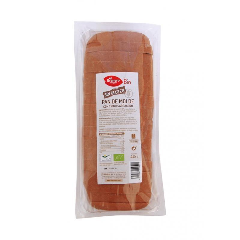 Pan de molde con trigo sarraceno 445 gr. El Granero