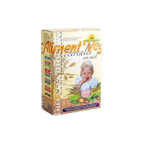 Papilla de 7 cereales con miel bio 400 gr. Aliment Vegetal