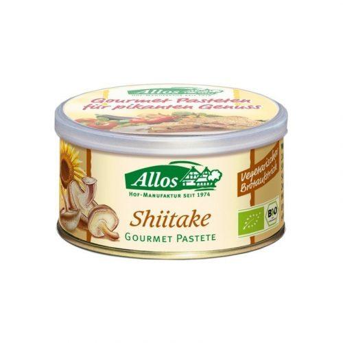 Paté vegetal con setas shiitake 125 gr. Allos