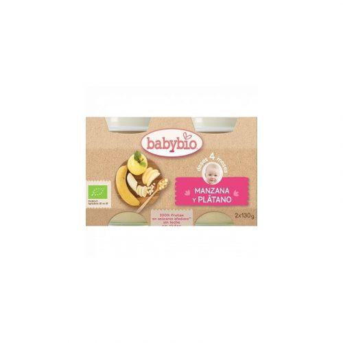 Potito de manzana y plátano 2x130 gr. Baby Bio